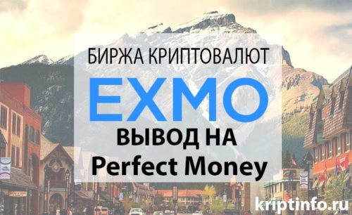 вывод на Perfect Money