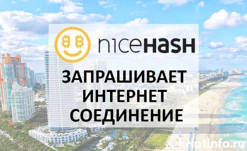 nicehash miner запрашивает интернет соединение
